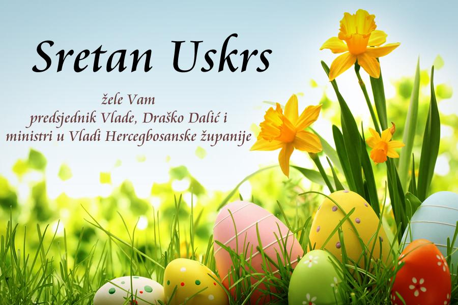uskrsne čestitke katoličke Vlada Hercegbosanske županije – 2016 – ožujak uskrsne čestitke katoličke